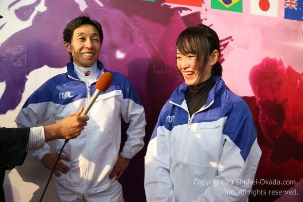 レース後には武豊騎手と藤田菜七子騎手1